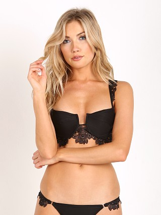 For Love & Lemons Swim Barcelona Underwire Bikini Top Black