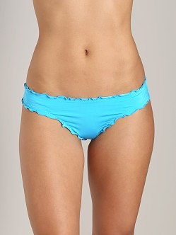 CA by Vitamin A Rio Ruffle Scoop Bikini Bottom Malibu