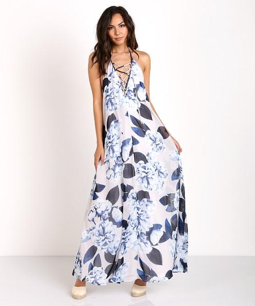 3b8ed3343b6b3 Show Me Your Mumu Logan Lace Up Maxi Bouquet Blue MR6-374 - Free Shipping  at Largo Drive