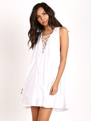 Show Me Your Mumu Rancho Mirage Lace Up Dress White Cloud
