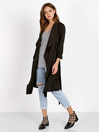 BB Dakota Barkly Trench Coat Black