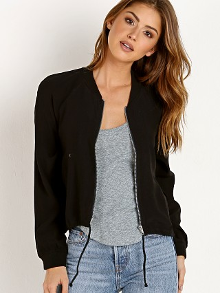 BB Dakota Troy Satin Jacket Black