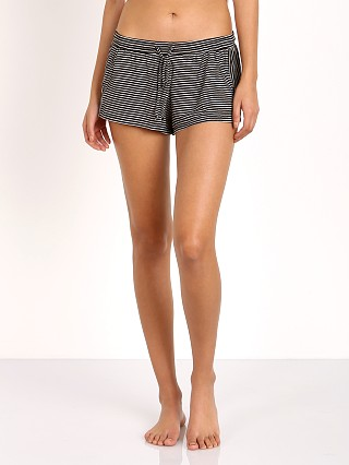 Eberjey Toni Drawstring Stripe Shorts Black/Natural