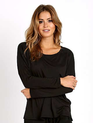 Eberjey Purdy Long Sleeve Top Black