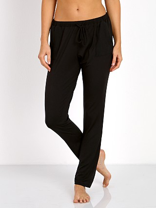 Complete the look: Eberjey Purdy Drawstring Slim Pant Black