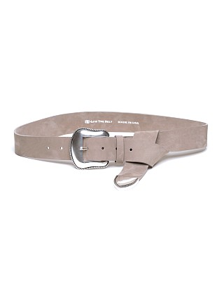 B-Low The Belt Taos Nubuck Waist Belt Light Taupe/Silver