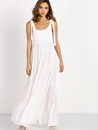 Indah Doe Smocked Tank Maxi Dress Ivory