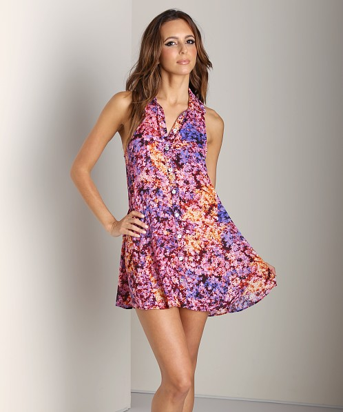Show Me Your Mumu Carly Collared Dress Groovy Gardens