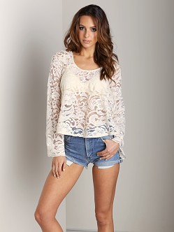 Show Me Your Mumu Flora Fan Top Iola Lace Natural