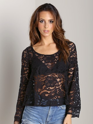 Show Me Your Mumu Flora Fan Top Iola Lace Black