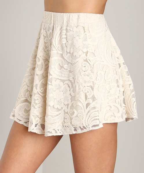 Show Me Your Mumu Callie Mini Skirt Iola Lace Natural