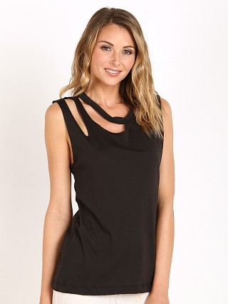 LNA Clothing Double Cut Tank Black