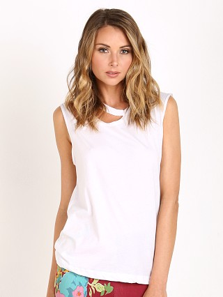 LNA Clothing Double Cut Tank White