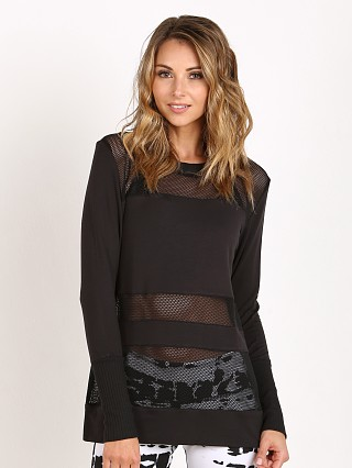 alo Plank Long Sleeve Top Black