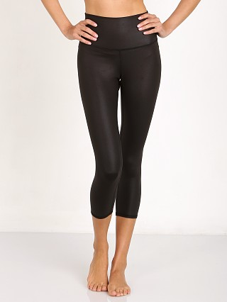 alo High Waist Airbrush Capri Black Glossy