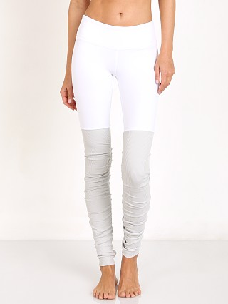 alo Goddess Ribbed Legging White/Vapor Grey