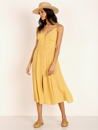 Auguste the Label Tear Drop Juliette Midi Dress Golden Sand