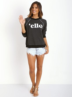 WILDFOX 'Ello Kim's Sweater Clean Black