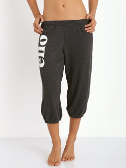 WILDFOX 'Ello Cropped Morning Sweats Clean Black