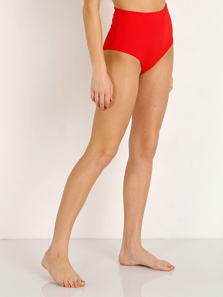 Complete the look: Mara Hoffman Lydia Bikini Bottom Red