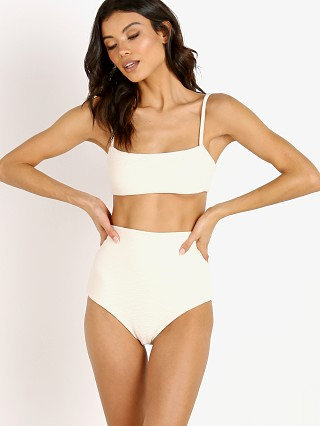 Complete the look: Mara Hoffman Sia Bikini Top Cream Riley Stripe