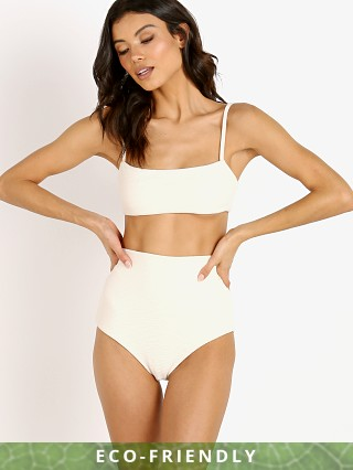 Mara Hoffman Sia Bikini Top Cream Riley Stripe