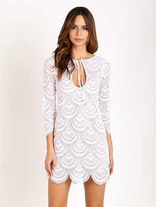 For Love & Lemons Rosalita Mini Dress White