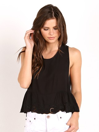 Auguste Open Road Embroidered Top Black