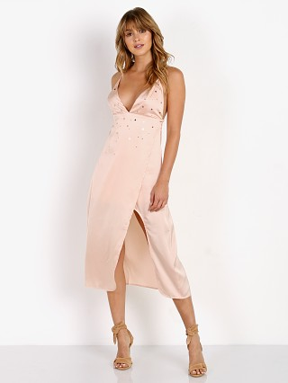 For Love & Lemons Twinkle Midi Dress Blush