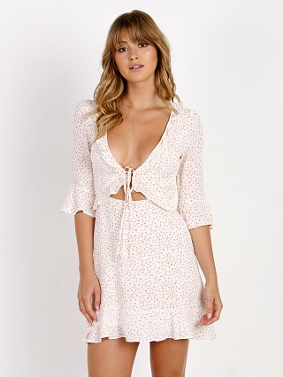 For Love & Lemons Nostalgic Tie Front Dress White Star