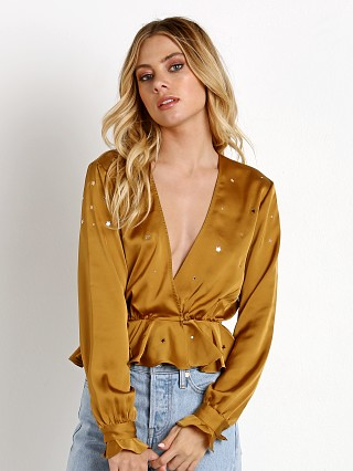 For Love & Lemons Twinke Long Sleeve Blouse Olive