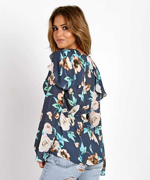 Stone Cold Fox Schiffer Blouse Navy Cosmo