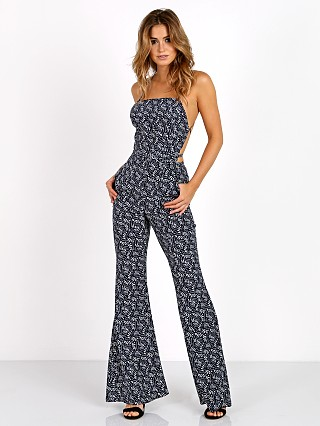 Model in navy freen Stone Cold Fox Elle Jumpsuit