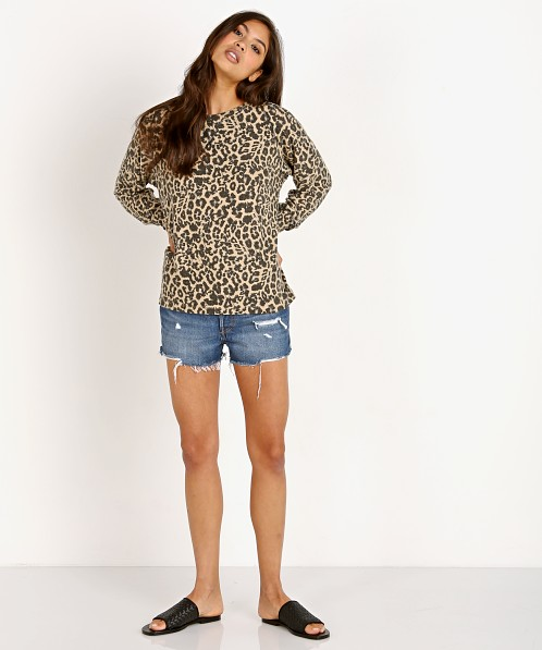 LNA Clothing Brushed Leopard Raglan