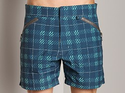 C-IN2 Plaid Cargo Shorts Simply Navy Print