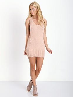 For Love & Lemons KNITZ Ski Bunny Tank Dress Blush