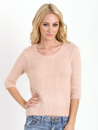For Love & Lemons KNITZ Ski Bunny Sweater Blush