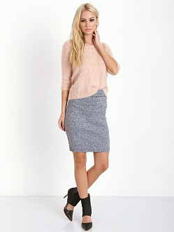 For Love & Lemons KNITZ Blizzard Skirt Heathered Grey