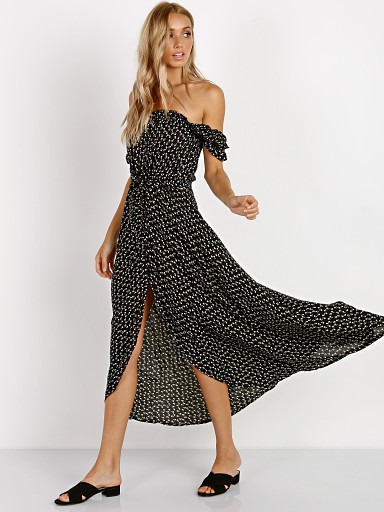 Auguste the Label  Leila Button Down Day Dress Black
