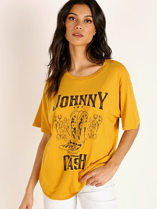 Daydreamer Johnny Cash Boots Boyfriend Tee Golden