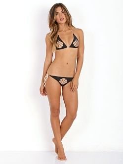 Cali Dreaming Aries Bikini Top Black