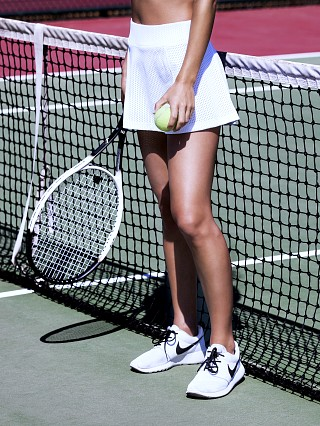 Full Court Tennis Skirt White