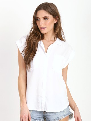 Bella Dahl Crop Back Button Down White