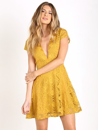 For Love & Lemons Sienna Mini Dress Goldenrod