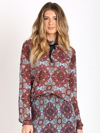 For Love & Lemons Geneva Blouse Cornflower Blue