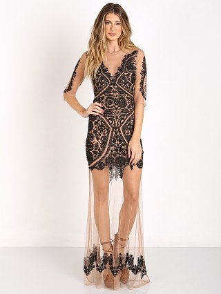 For Love & Lemons Lotus Maxi Dress Black