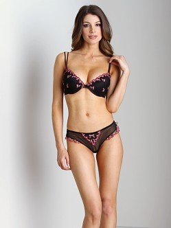 Blush Eden Push Up Bra Black Shadow