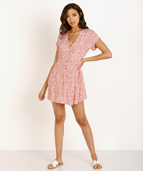 Capulet Mabel Mini Dress Tangerine Floral