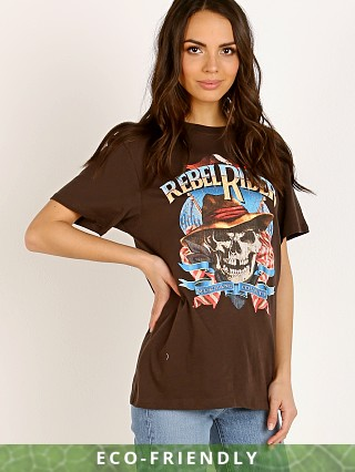 Spell & The Gypsy Rebel Rider Organic Boyfriend Tee Charcoal