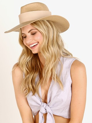 Janessa Leone Clemence Packable Hat Straw Sand